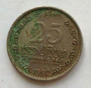 Sri Lanka 1982 25 Cents coin