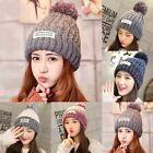 New Unisex Women Men Ball Winter Crochet Cap Warm Knit Ski Beanie Wool Baggy Hat