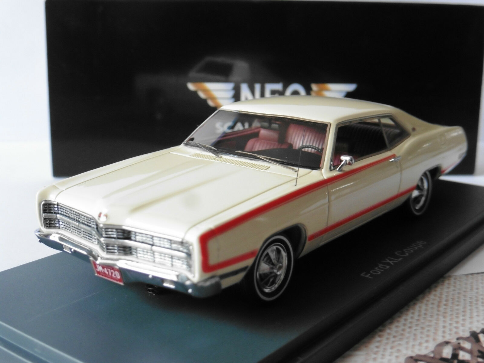 FORD XL COUPE 1969 bianca NEO 44720 1 43 WEISS BIANCA HARDTOP biancaHE bianca