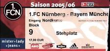 Ticket BL 2005/2006 1. FC Nürnberg - FC Bayern München, 10.09.2005