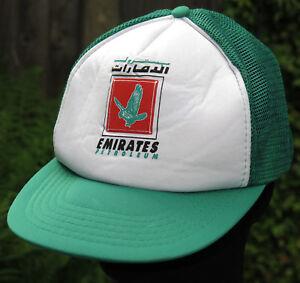 Vintage-Rare-Emirats-petroliers-Snapback-Mesh-Trucker-Baseball-Cap-chapeau-annees-70-annees-80