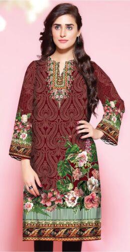 Women Indian Pakistani Kurti Cotton Designer Digital Print Stitched Tunic Tops