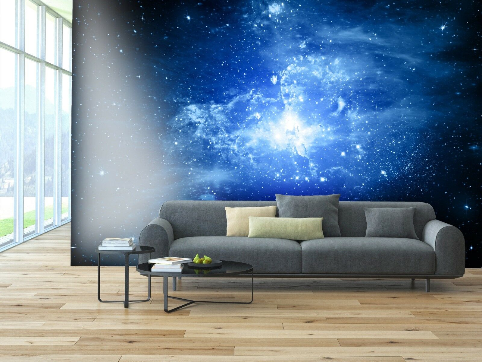 PVC Photo Wallpaper - ECO Mural Self Adhesive Wallpaper -Stars of a planet SW048