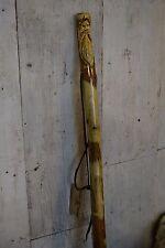 """Wood Spirit Walking Stick, Kiln Dried, Hiking Stick, handcarved- 60"""" tall - 430"""