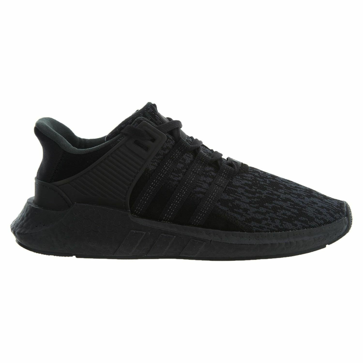 Adidas EQT Support 93/17 Mens BY9512 Black Knit Boost Running Shoes Comfortable