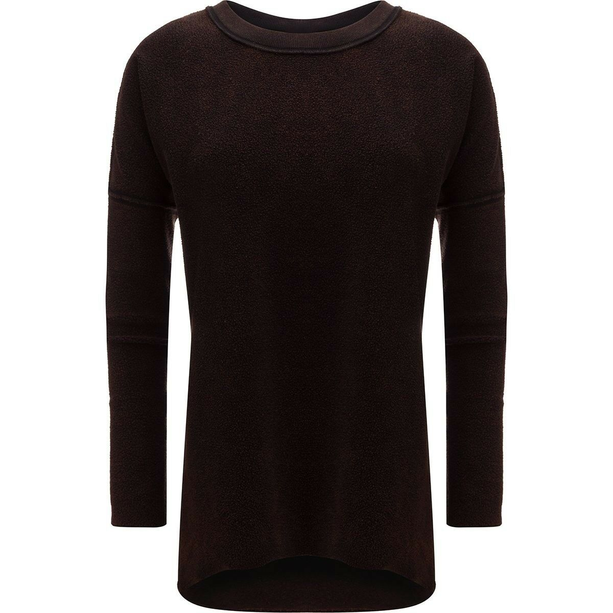 New Free People Washed Ashore Thermal Sweater Top Cozy Shirt schwarz