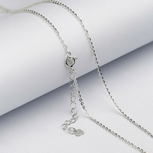 """925 Sterling Silver CABLE Chain Necklace Lobster Lock-Stamped 925 Italy 16/""""-24/"""""""