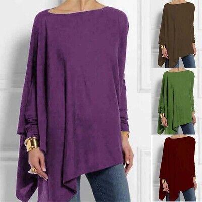 Sleeve Tunic Women Shirt Ladies  TopsLong Casual Basic Asymmetrical Loose Blouse