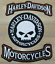 thumbnail 3 - HARLEY ROCKERS WILLIE G. SKULL Jacket 3 pcs PATCH & motorcycle leather gloves