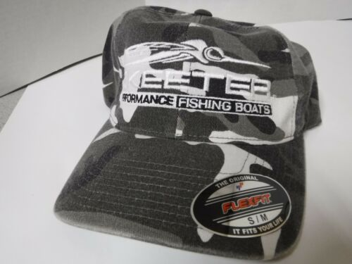 SKEETER BLACKWHITE CAMO FLEX FIT HAT SM