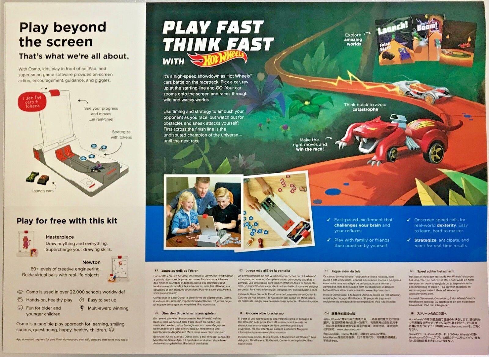 Hot Wheels Osmo Osmo Osmo experiencia de juego de mente corredores Digital 9016 (iPad no incluido) e938a1