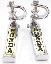 """Honda Folding Foot Peg Rest Highway Aftermarket Chrome Gold Adjustable 1"""" 1.25"""""""