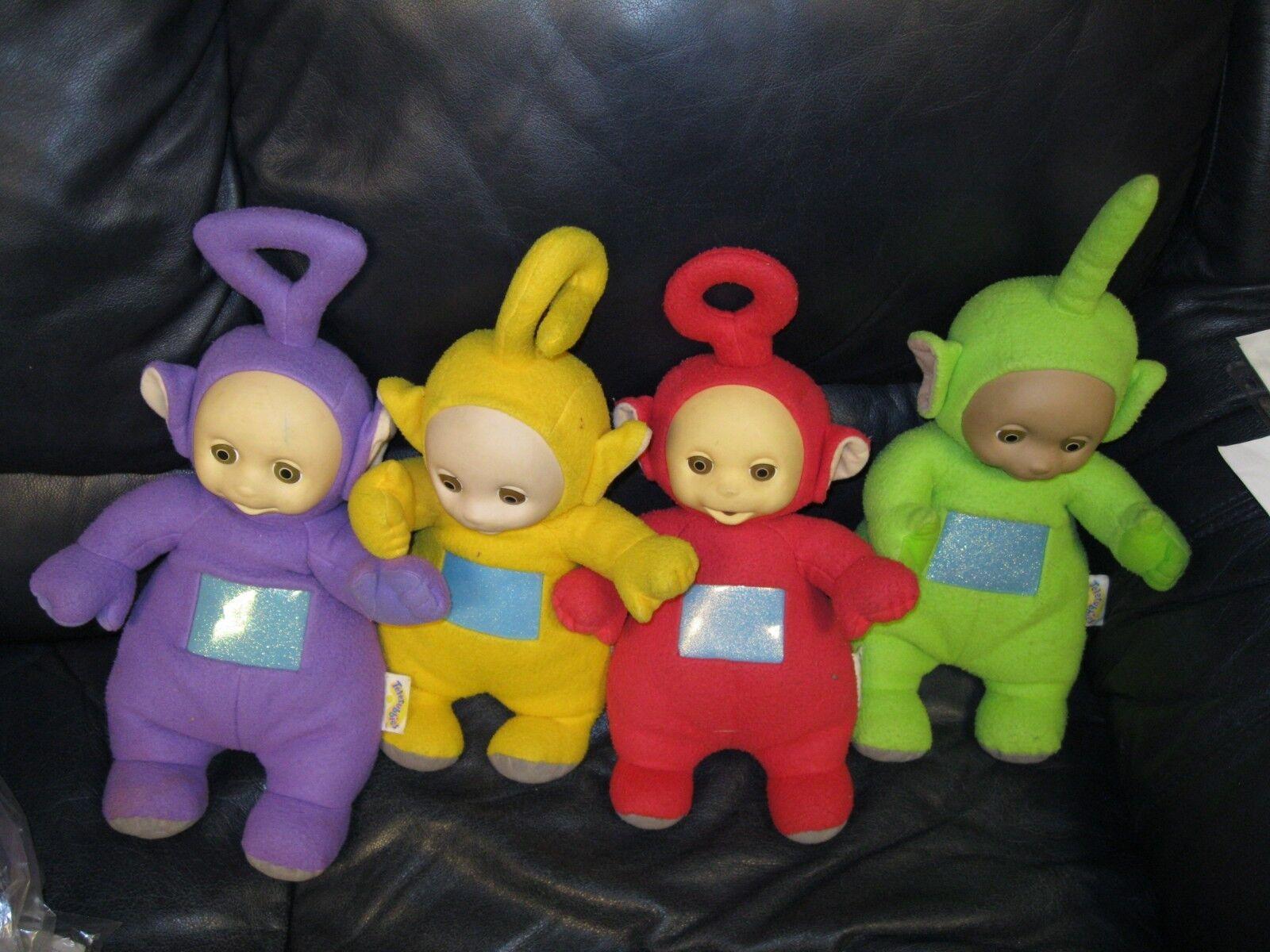 Teletubbies Po, Dipsy, Laa Laa, And Tinky Winky Plush Dolls Set 4