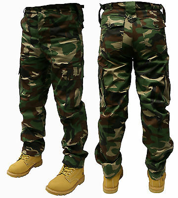 """Adults Camo Army Cargo Combat Trousers 8 Different Camo Patterns 30""""-50"""""""