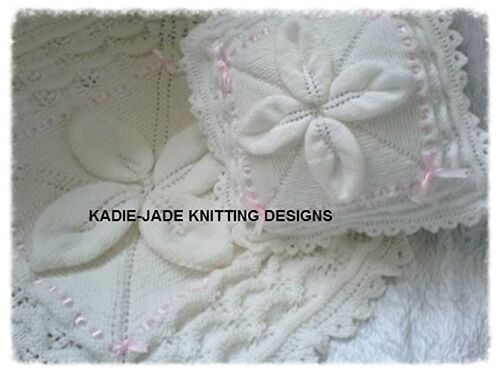 Baby//Reborn Pram Cover /& Pillow Set Knitting Pattern #80