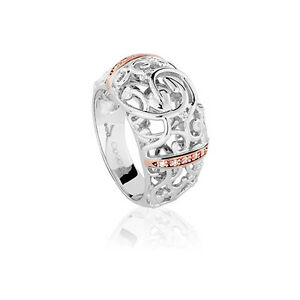 OFFICIAL-Welsh-Clogau-Silver-amp-Rose-Gold-Am-Byth-Ring-SIZE-N-170-off