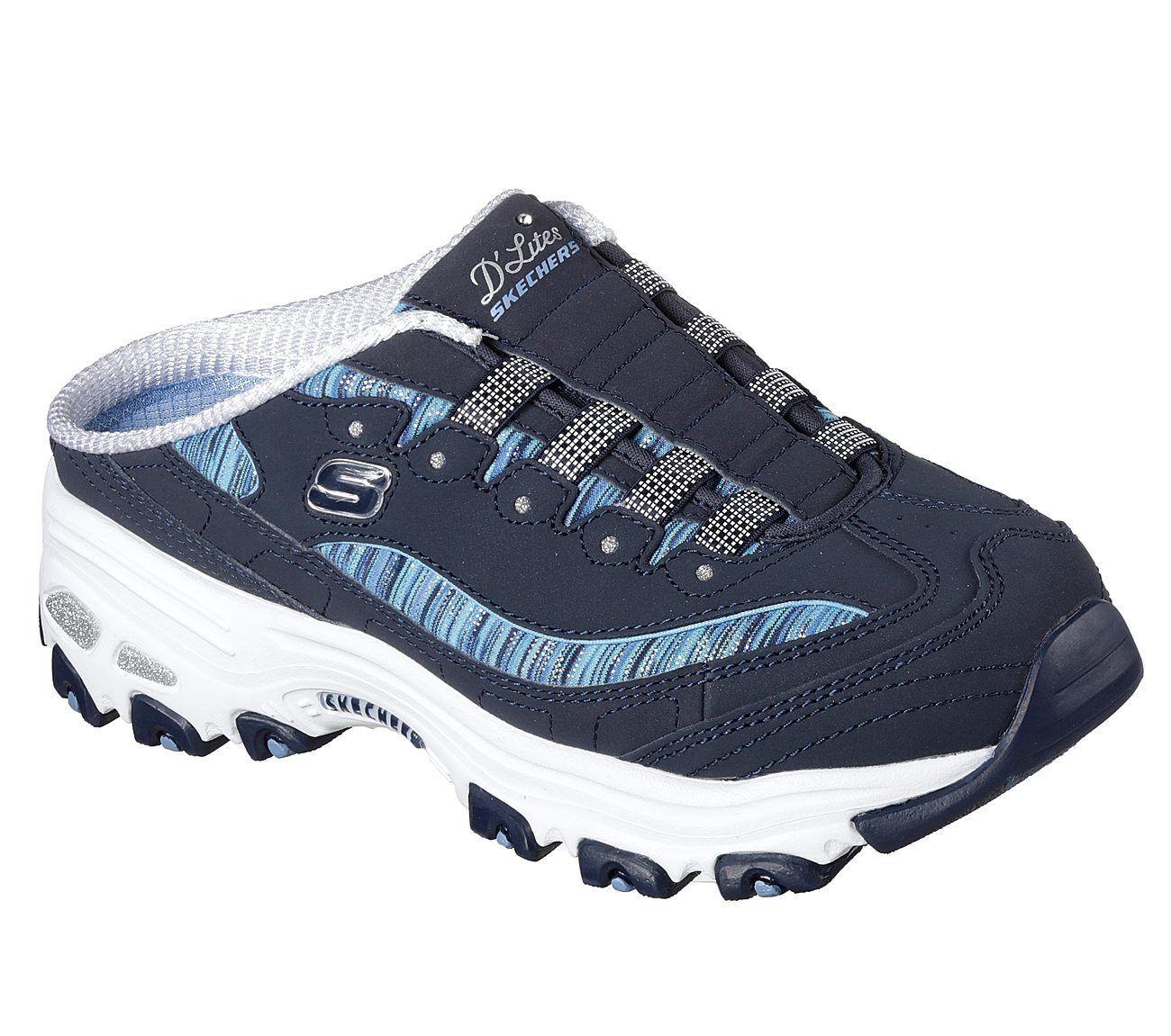 Los últimos zapatos de descuento para hombres y mujeres Nuevo señora Skechers Slipper d 'Lites-Spark interest azul