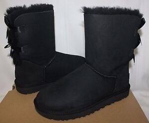 7ef81ac4d9 UGG Women s Bailey Bow II 2 Black suede boots 1016225 New With Box ...