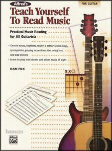 Acheter Pas Cher Alfred's Teach Yourself To Read Music For Guitar Pratique Musicale Lecture-afficher Le Titre D'origine