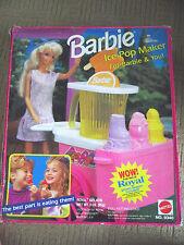 VINTAGE BARBIE 1992 ICE POP MAKER STAND PLAYSET  / MATTEL 9340
