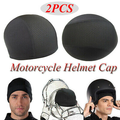 2 PCS Wicking Cooling Skull Cap Helmet Inner Liner Beanie Dome Cap Sweatband