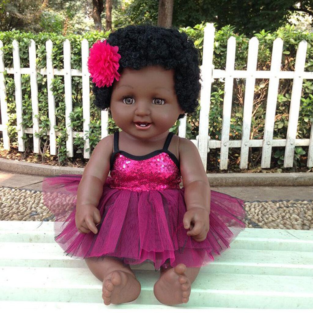 20   Reborn afroamericano bambino ragazza bambola vinile neonato bambino  risparmia il 50% -75% di sconto