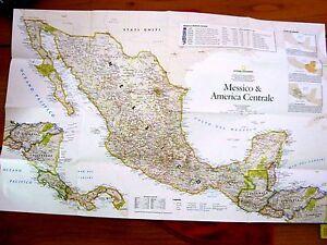 Cartina Politica Messico.Carta Politico Fisica Messico E America Centrale National Geographic 1 5810000 Ebay