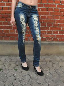 3463-136-Roehren-Jeans-Used-Optik-Zerrissen-Regular-Straithfit-Gr-36-44-S-XXL