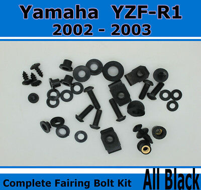 Black Complete Fairing Bolt Kit Screws fit for YAMAHA  YZF R6 2008-2015 c01
