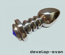 Blue Bijoux Plug Aluminum Male chastity device Intime A042-2