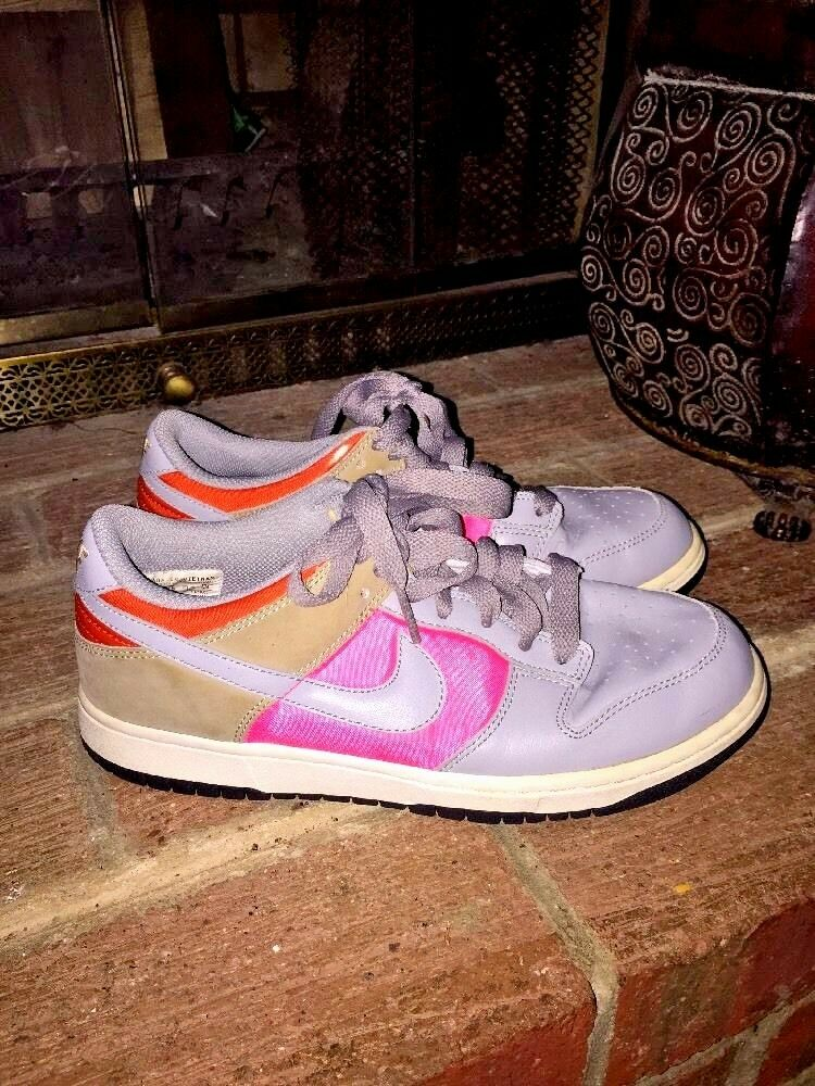 NIKE RETRO Swoosh Air Jordans LEATHER SUEDE WOMENS ATHLETIC TENNIS SHOES  SIZE 8