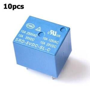 10pcs-Practical-Functional-DC-5V-SONGLE-PCB-SRD-05VDC-SL-C-5pins-Relays-HOT