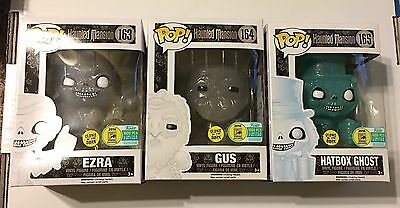 Funko Pop! Haunted Mansion Ezra #163, Gus #164 & Hatbox Ghost #165 SDCC '16 excl
