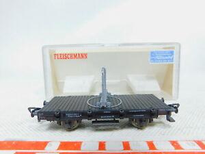 By293-0-5-Fleischmann-h0-dc-5220-drehschemelwagen-sin-nes-DB-embalaje-original