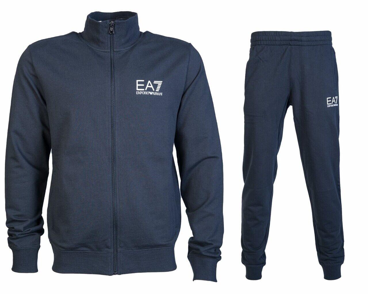 Emporio Armani 3gpv51 Pj05z Herren Ea7 Trainingsanzug Nachtblau Jogginganzug