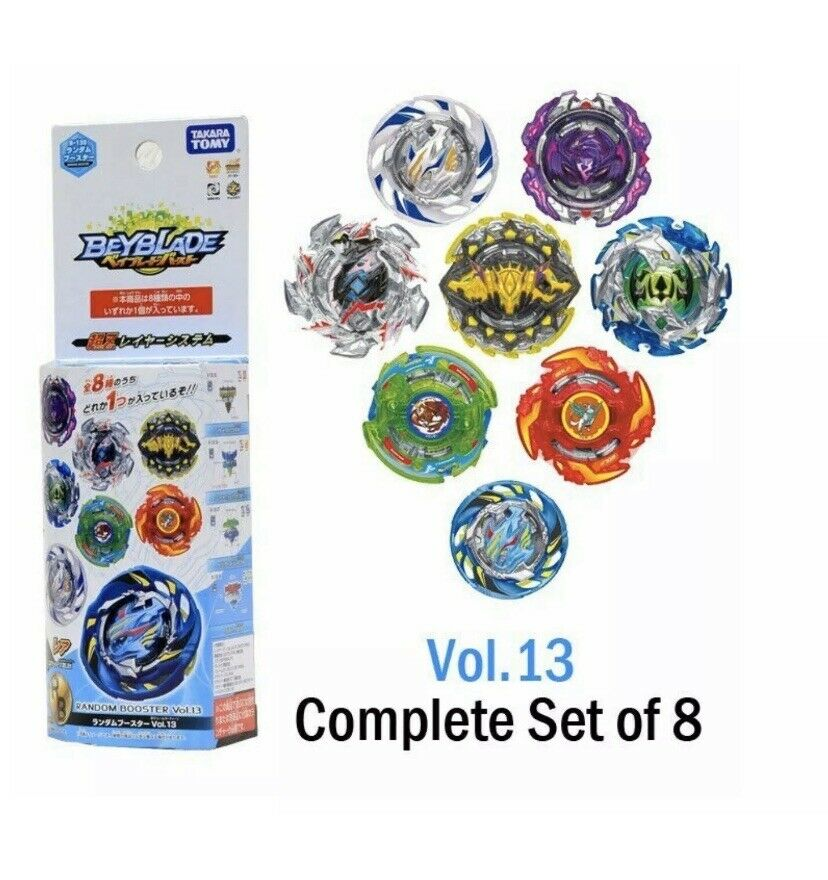 Beyblade Burst B-130 Booster Vol 13 Air Knight .12E.Et Complete Set Of 8 USA