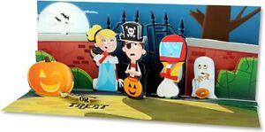 Image Is Loading Scaredy Kids Panoramic Pop Up Halloween Card Greeting