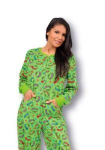 0700f8be2 Nickelodeon TMNT Teenage Mutant Ninja Turtles Footed Pajamas NWT M L ...