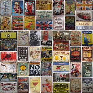 Tin-Metal-Sign-Plaque-Pub-Bar-Vintage-Retro-Wall-Decor-Poster-Home-Club