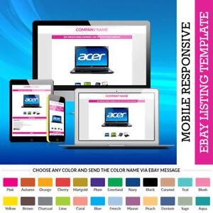 Auction eBay Template Design in Professional HTML Premium HTTPS ...