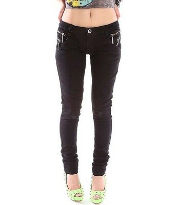 ABBEY DAWN GUILTY DENIM LADIES SLIM FIT JEANS PANT BLACK GREAT PRICE TOO  (B20C)