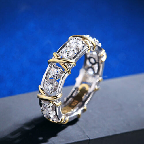 Luxury Women Lady Gold Silver Plated Crystal Party Wedding Ring Fashion Jewelry