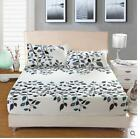 Color Stripes Cartoon Single Double Queen King Size Bed Fitted Sheet Fit Sizes