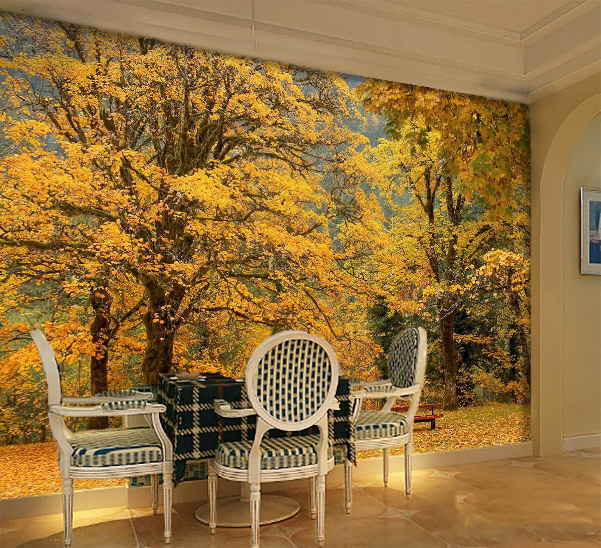 3D Golden Grove Park 6 Wall Paper Wall Print Decal Wall Deco Indoor Mural Summer