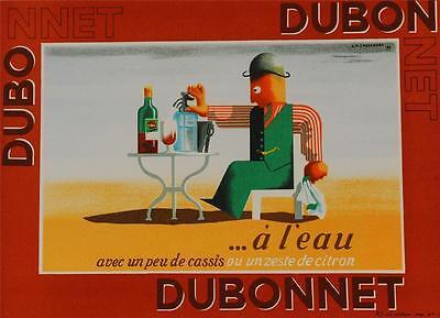 Dubonnet A Leau Poster Fine Art Lithograph Cassandre COA S2