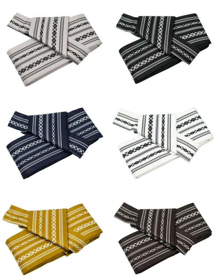 Japanese KAKU OBI Kimono Belt One Touch Easy to Wear 100% Polyester Japan