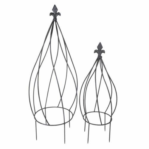2er Set-piante Rank GRIGLIA GIARDINO DECORAZIONE Metallo supporto per rampicanti forma di cipolla