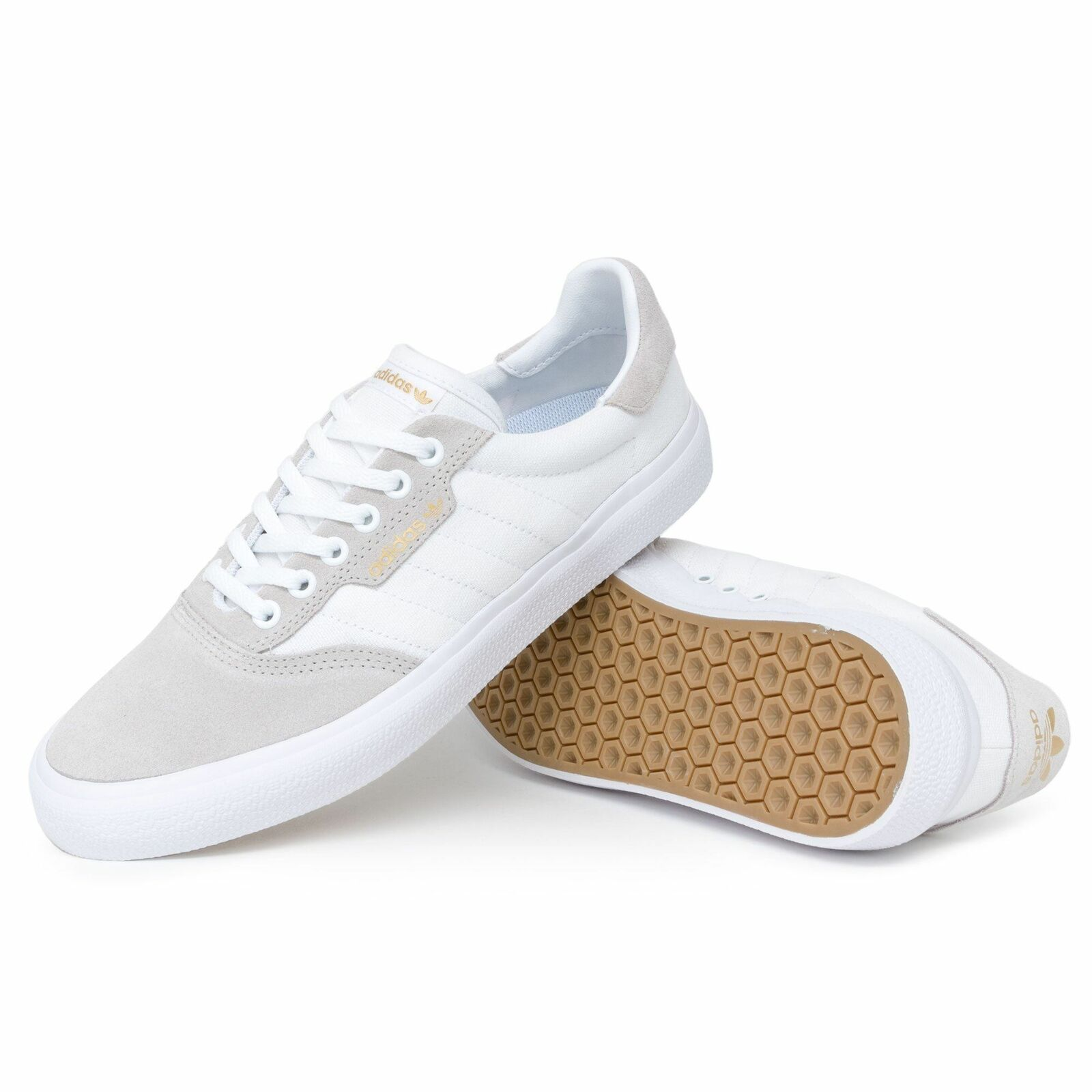Adidas 3MC Vulc Originals Schuhe Herren Weiß Gold Metal