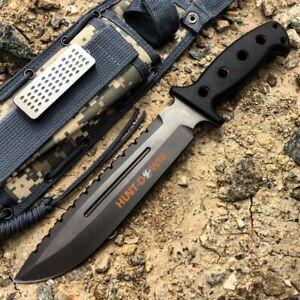 "13.5"" Huntdown Outdoorsman Survival Knife with Digital Camo Sheath"