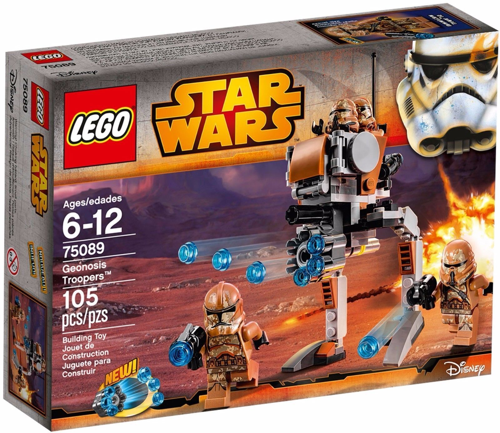 LEGO STAR WARS 75089 Geonosis Troopers with 4 minifigures Clone with weapons
